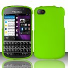 Hard Plastic Snap On Case Cover Blackberry Q10 (AT&T/Sprint/T-Mobile/Verizon) - Neon Green