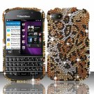 Hard Plastic Snap On Bling Case Cover Blackberry Q10 (AT&T/Sprint/T-Mobile/Verizon) - Golden Cheetah