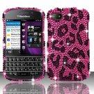 Hard Plastic Snap On Bling Case for Blackberry Q10 (AT&T/Sprint/T-Mobile/Verizon) - Hot Pink Leopard