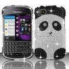 Hard Plastic Snap On Bling Case Cover Blackberry Q10 (AT&T/Sprint/T-Mobile/Verizon) - Panda Bear