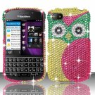 Hard Plastic Snap On Bling Case Cover Blackberry Q10 (AT&T/Sprint/T-Mobile/Verizon) - Starry Owl