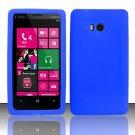 Soft Silicone Rubber Skin Case Cover for Nokia Lumia 810 (T-Mobile) - Blue