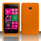 Soft Silicone Rubber Skin Case Cover for Nokia Lumia 810 (T-Mobile) - Orange