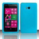 Soft Silicone Rubber Skin Case Cover for Nokia Lumia 810 (T-Mobile) - Light Blue