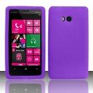 Soft Silicone Rubber Skin Case Cover for Nokia Lumia 810 (T-Mobile) - Purple