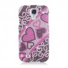 Hard Plastic Snap On Bling Case Cover for Samsung Galaxy S4 IV i9500 – Hearts Flow