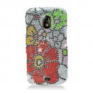 Hard Plastic Bling Rhinestone Design Case for Samsung Galaxy Nexus (Verizon/Sprint) - Fall Flower