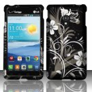 Cell Phone Case Cover Snap On for LG Lucid 2 VS870 (Verizon) - Midnight Garden + Screen Protector