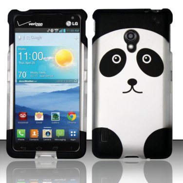 Cell Phone Case Cover Snap On for LG Lucid 2 VS870 (Verizon) - Panda Bear + Screen Protector