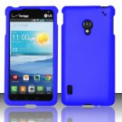 Cell Phone Case Cover Hard Plastic Snap On for LG Lucid 2 VS870 (Verizon) - Blue + Screen Protector