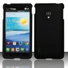 Cell Phone Case Cover Hard Plastic Snap On for LG Lucid 2 VS870 (Verizon) - Black + Screen Protector
