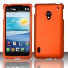 New Cell Phone Case Cover Snap On for LG Lucid 2 VS870 (Verizon) - Orange + Screen Protector