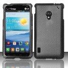 Cell Phone Case Cover Hard Plastic Snap On for LG Lucid 2 VS870 (Verizon) - Carbon Fiber