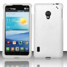 New Cell Phone Case Cover Snap On for LG Lucid 2 VS870 (Verizon) - White + Screen Protector
