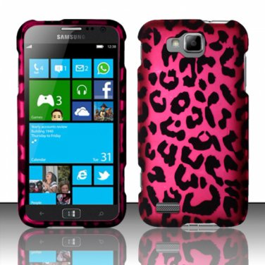 Cell Phone Case Cover Hard Plastic Snap On for Samsung ATIV S T899m (T-Mobile) - Hot Pink Leopard