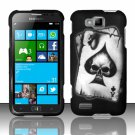 Cell Phone Case Cover Hard Plastic Snap On for Samsung  ATIV S T899m (T-Mobile) - Spade Skull