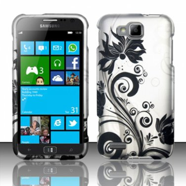 Cell Phone Case Cover Hard Plastic Snap On for Samsung  ATIV S T899m (T-Mobile) - Black Vines