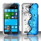 Cell Phone Case Cover Hard Plastic Snap On for Samsung  ATIV S T899m (T-Mobile) - Blue Vines