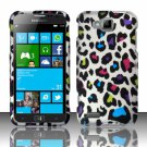 Cell Phone Case Cover Hard Plastic Snap On for Samsung  ATIV S T899m (T-Mobile) - Rainbow Leopard