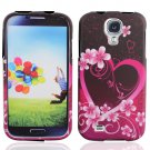 Hard Plastic Rubberized Snap On Case Cover for Samsung Galaxy S4 IV i9500 - Lovely Heart