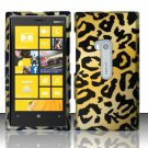 Cell Phone Case Cover Hard Plastic Snap On for Nokia Lumia 920 (AT&T) – Golden Cheetah