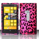 Cell Phone Case Cover Hard Plastic Snap On for Nokia Lumia 920 (AT&T) – Hot Pink Leopard