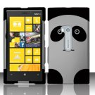Cell Phone Case Cover Hard Plastic Snap On for Nokia Lumia 920 (AT&T) – Cute Panda Bear