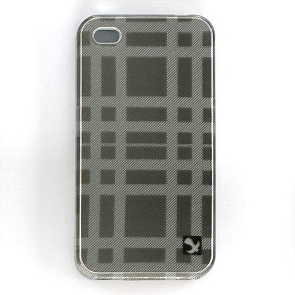 Hard Plastic Design Case For Apple iPhone 4G - Gray Check