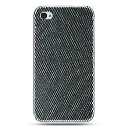 Hard Plastic Design Case For Apple iPhone 4G  - Carbon Fiber