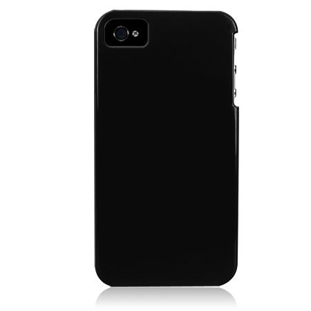 Hard Plastic Glossy Back Cover Case For Apple iPhone 4G - Black