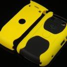 Hard Plastic Rubber Feel Armor Case For Blackberry Bold 9700/9780 - Yellow