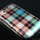 Hard Plastic Design Case For Blackberry Torch 9800 - Blue Check