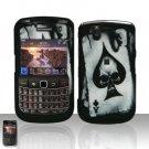 Hard Plastic Design Case For Blackberry Tour 9600/9630 - Ace of Spade Skull