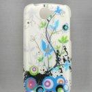 Hard Plastic Design Case For Google Nexus One - White Spring Flowers
