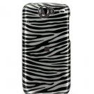 Hard Plastic Design Case For Google Nexus One - Silver and Black Zebra