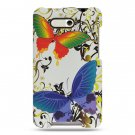 Hard Plastic Design Case For HTC Aria - White Rainbow Butterfly