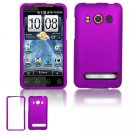 Hard Plastic Rubber Feel Full Case For HTC Evo 4G - Purple