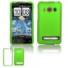 Hard Plastic Rubber Feel Full Case For HTC Evo 4G  - Neon Green