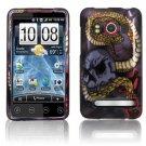 Hard Plastic Rubber Feel Design Full Case For HTC Evo 4G  - Snake Skull