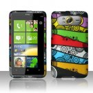 Hard Plastic Rubber Feel Design Case For HTC HD7 - - Abstract Art