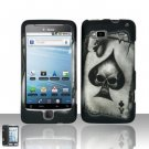 Hard Plastic Rubber Feel Design Case For HTC G2 - Ace of Spade Skull