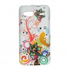 Hard Plastic Design Case For HTC G2 - White Autumn Flowers
