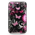 Hard Plastic Design Case For HTC Inspire 4G/Desire - Pink Butterfly