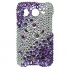 Hard Plastic Bling Rhinestone Design Case For HTC Inspire 4G/Desire  - Purple and Silver