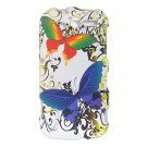 Hard Plastic Design Case For HTC Mytouch HD 4G - White Rainbow Butterfly