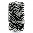 Hard Plastic Design Case For HTC Mytouch HD 4G - Black and Silver Zebra