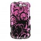 Hard Plastic Design Case For HTC Mytouch HD 4G - Purple Swirls