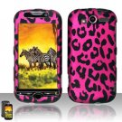 Hard Plastic Rubber Feel Design Case For HTC Mytouch HD 4G  - Hot Pink Leopard
