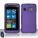 Hard Plastic Rubber Feel Cover Case For HTC Surround - Purple