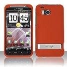 Hard Plastic Rubber Feel Cover Case For HTC Thunderbolt 4G (Verizon) - Orange